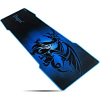 Blue Pad-EXCO extra extended gaming mouse pad, 90 * 30cm thickness 3mm, large mouse mat with a smooth surface and precise tracking