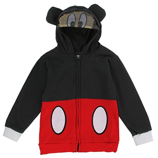 Amazoncom Mickey Mouse Toddler Little Boys Masked Zip Hoodie