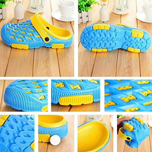 Eastlion EVA Paar Strand Garten Schuhe Sommer Mode Beiläufige halbe Hausschuhe für Liebhaber Männlich Stil 3 Dunkelblau