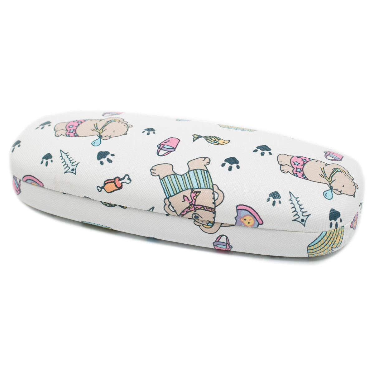 Handmade Russian Glasses case for women with a color print, on a solid basis, covered with artificial leather