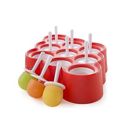stampo mini con manico. Himki per yogurt Set di 9 stampi per preparazione in casa di ghiaccioli gelato tipo Popsicle