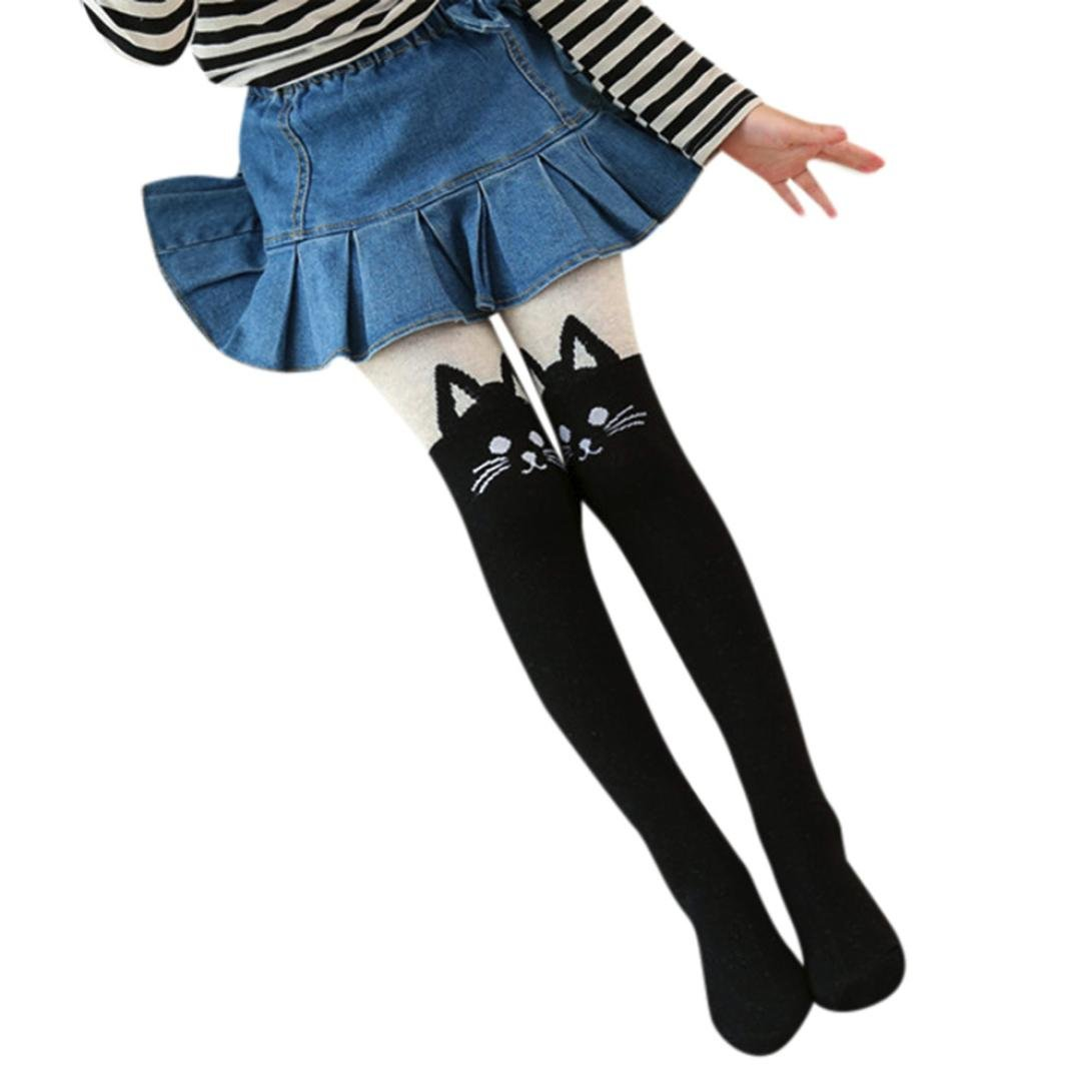 Little Girls Warm Cat Print Leggings Pants Coerni Girls Tights