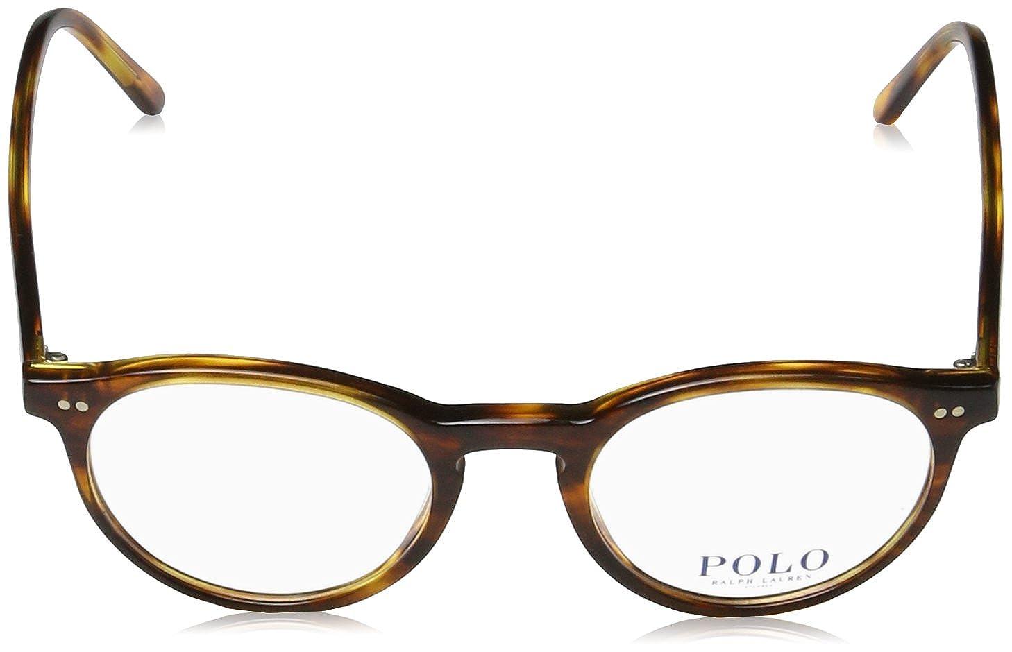 Polo Men's Havana 48mm Ph2083 Eyeglasses Striped kNwP80XnO