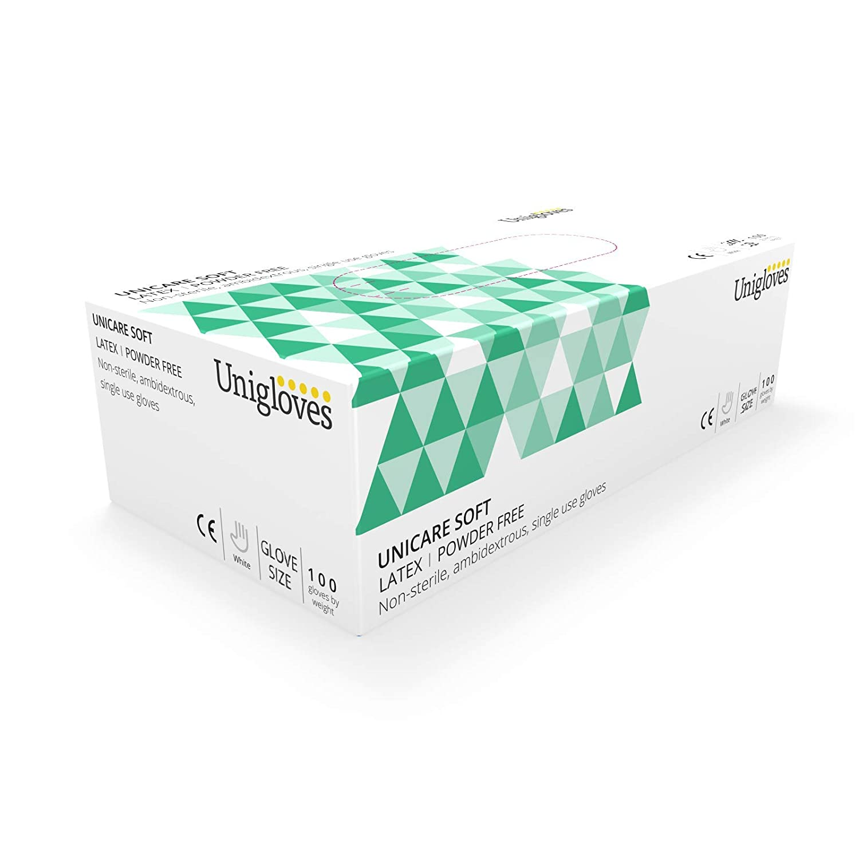 Unigloves UCLPF1202 - Guantes de lá tex sin polvo (tamañ o pequeñ o, 100 unidades)