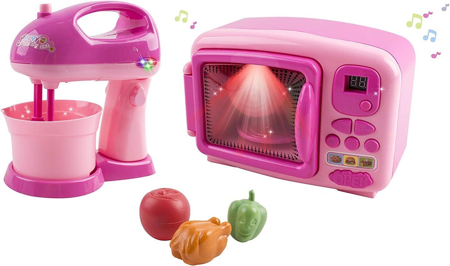 Amazon.com: Juego de juguetes de microondas y mezclador para ...