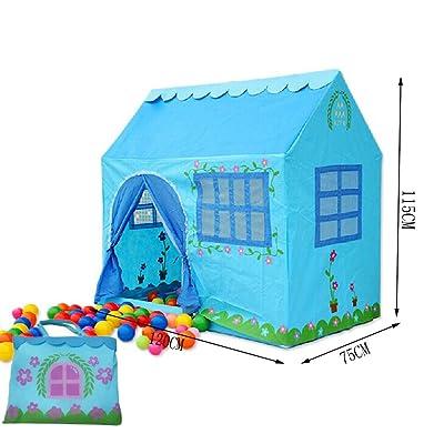 Blue House Shape Kids Play Tents Indoor / Outdoor Jouer Tente (moins de 6 ans)