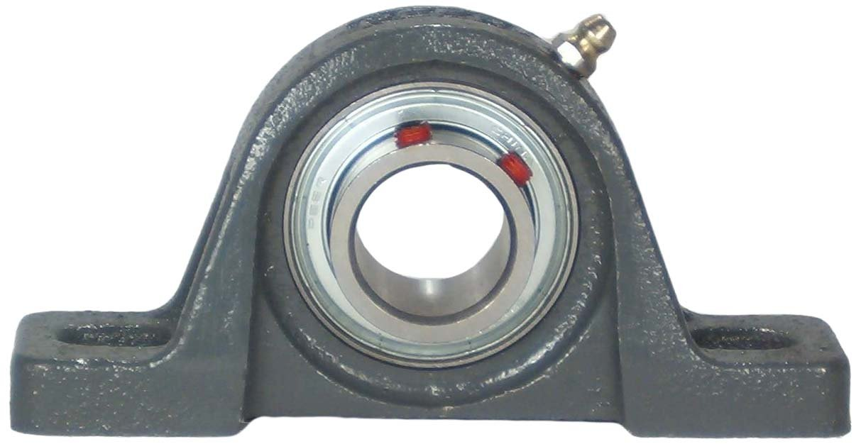 Narrow Inner Ring Cast Iron Housing 3//4 Bore Peer Bearing FHSP204-12G Pillow Block Single Lip Seal 3-3//4 Bolt Center Standard Shaft Height Set Screw Locking Collar 1-5//16 Shaft Height Relubricable