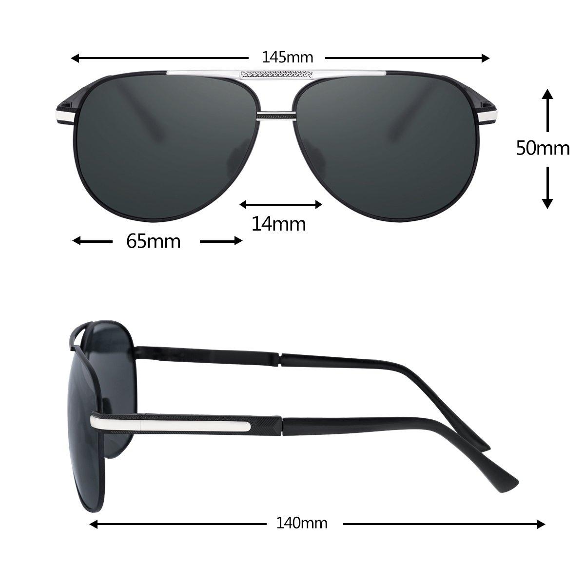 Zealme Polarized Fashion Aviator Anti Glare Pilot Driving Fashion Lightweight Durable Unbreakable Frame Cycling Fishing cycle Hiking Dark Sunglasses for Men Women (black) BM110