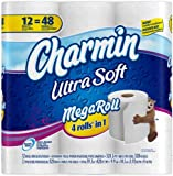 Charmin Ultra Soft Toilet Paper 12 Mega Rolls = 48 Regular Rolls