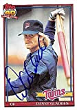 Dan Gladden autographed baseball card (Minnesota Twins) 1991 Topps #778 - Baseball Slabbed Autographed Cards