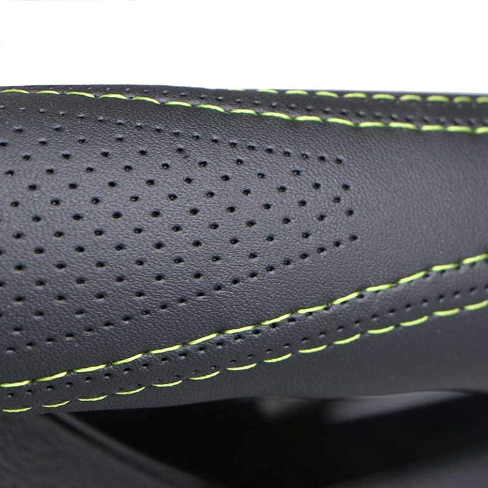 Orange Universal 38cm Anti-Rutsch-PU-Leder mit Nadel und Faden Lenkradschutz Soft DIY Auto Lenkradbez/üge