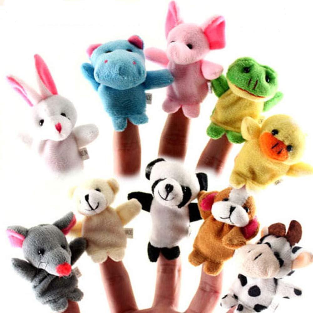 Limeo Marionetas de Dedos para Niños Bebé Marioneta de Dedo de Animal Pequeño Conjunto de Marionetas de Dedo Animal Marioneta de Dedos Set de Marionetas de Mano Juguetes de Marionetas (10 en Total)