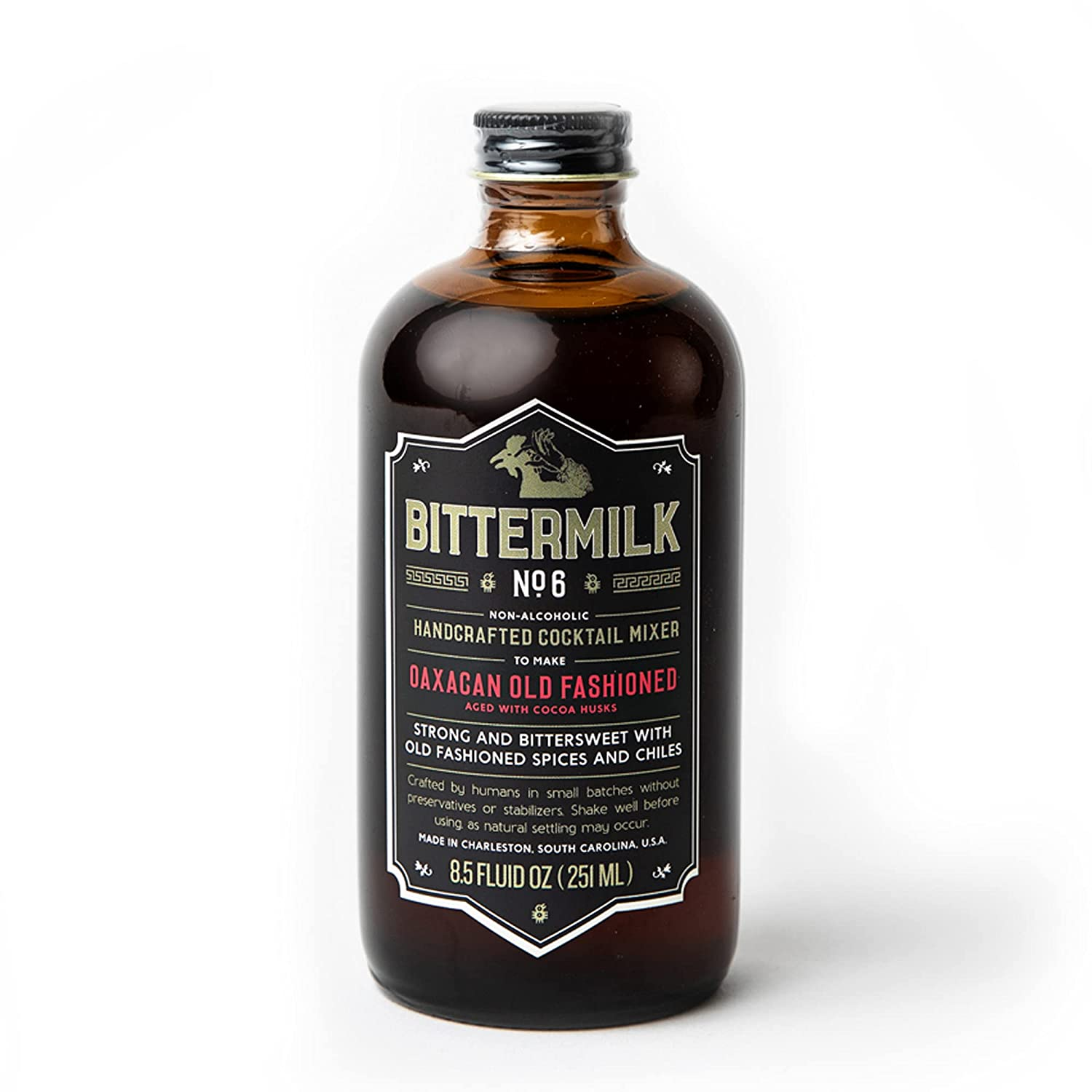 Bittermilk No.6 Oaxacan Old Fashioned – All Natural Handcrafted Cocktail Mixer – Just Add Mezcal or Whiskey, Makes 17 Cocktails