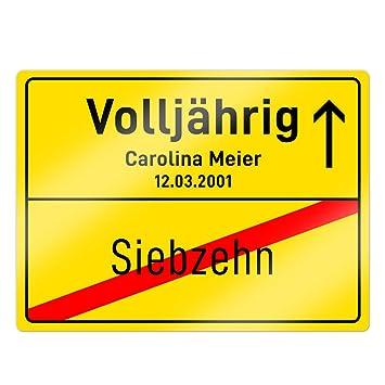 Geburtstag GEBURTSTAG JUBILÄUM Deko Karte Geschenk Geschenkidee Ortsschild Ortstafel zum 4