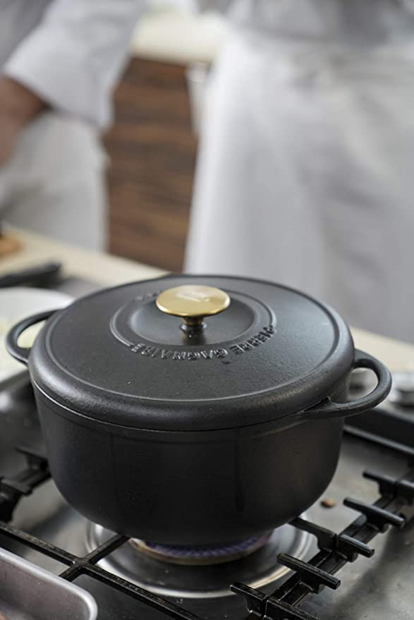 Tefal Heritage - Set minicacerolas de 10 cm, hierro fundido, 0,3 litros, tapa potenciadora de condensación, retención calor, cocción fuego lento, guisos, caramelización, apto para todo tipo de cocinas: Amazon.es: Hogar