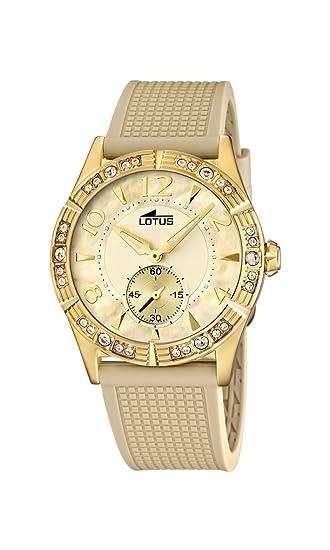 30b97cf57882 Lotus 15762 2 - Reloj analógico de cuarzo para mujer con correa de plástico