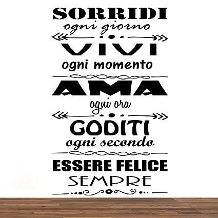 Vinilo Pared Decorativo Pegatina Pared Frase En Italiano