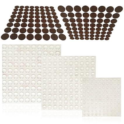 300 pcs cabinet door bumpers and 128 pcs furniture pads finegood rh amazon com