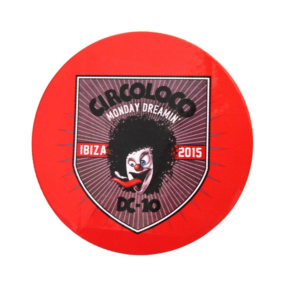 Circo Loco Ibiza Adesivo Monday Dreamin 2015 Clown