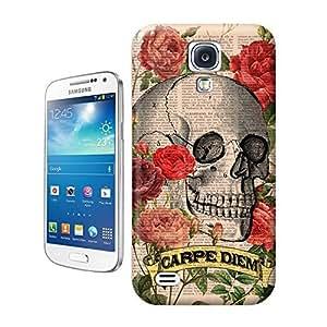Unique Phone Case Skeleton skull head arts map Skull Art Print Roses Skull Tatoo Hard Cover for samsung galaxy s4 cases-buythecase wangjiang maoyi