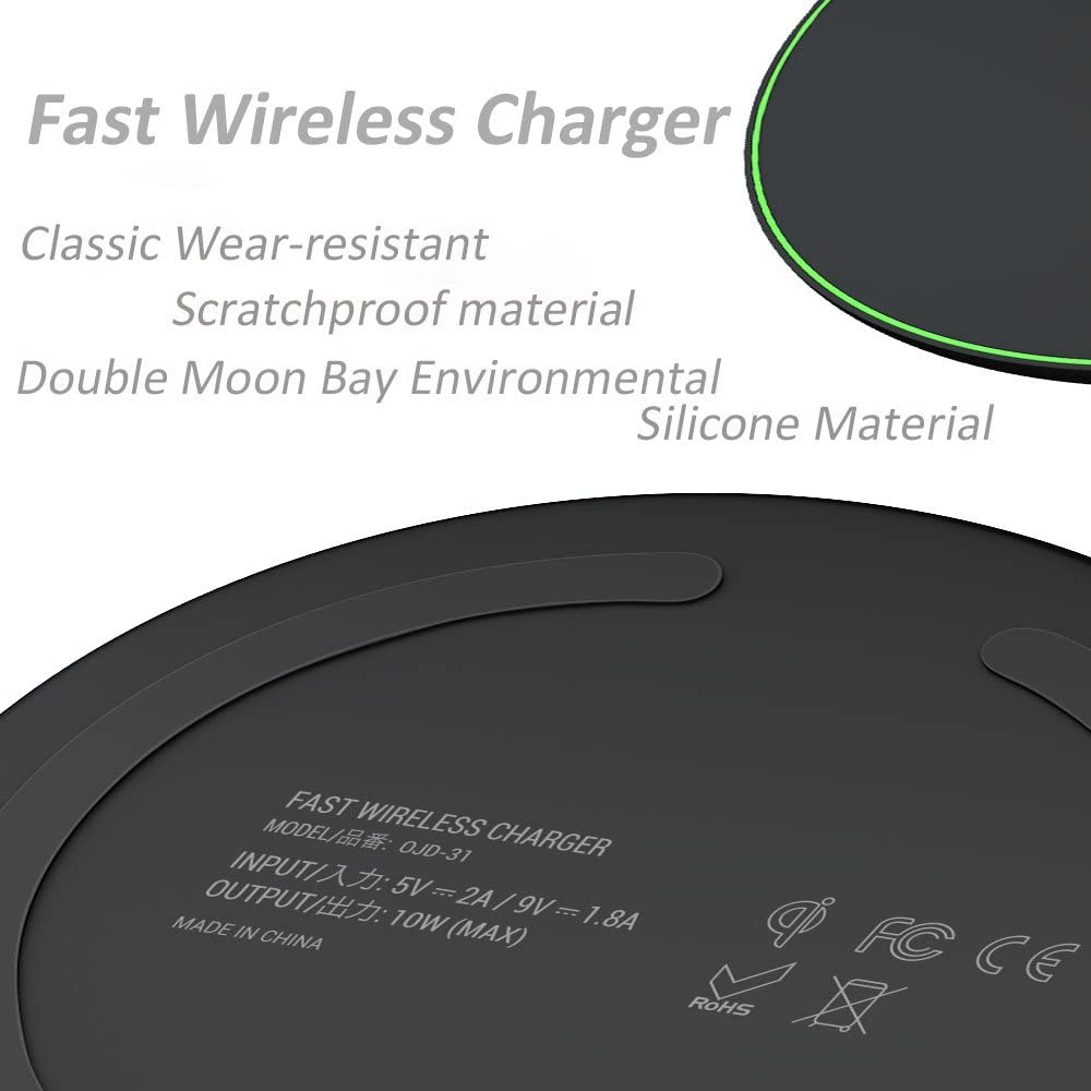 SNOHE Wireless Charger for Apple iPhone X//8//8 Plus,10w Wireless Charging Pad for Samsung s8//s9//s9 Plus//Note 8//7//s7//s7 Edge Nexus 4//5//6//7 and All Qi-Enable Devices LG g3