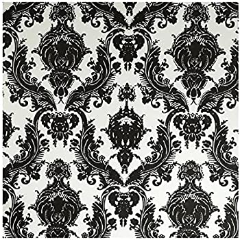 tempaper designs da 005 damsel self adhesive temporary wallpaper white and black - Temporary Walpaper