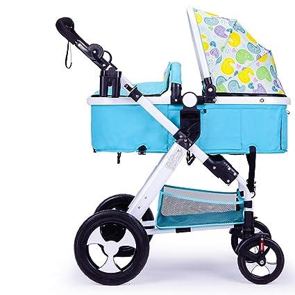 Puede Estar Sentado Puede ser Plegado Coche Plegable, Carro de bebé ...