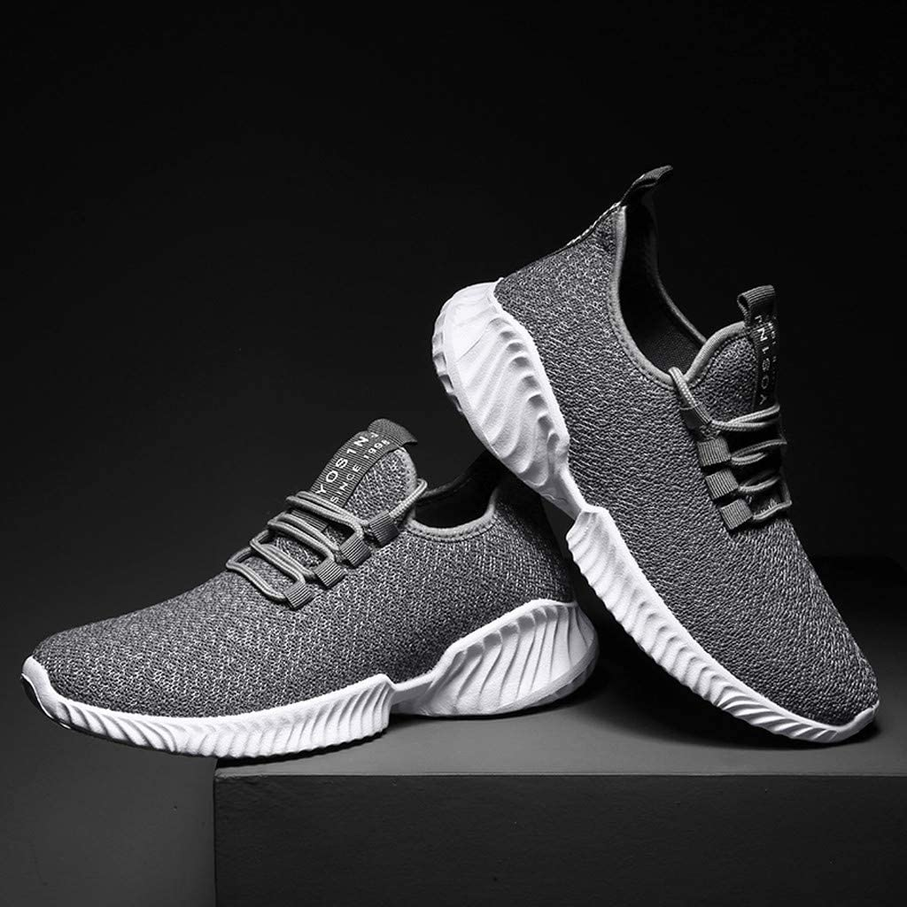 Kiminana Men Comfortable Solid Color Lightweight Sneakers Casual Breathable Running Sport Shoes Outdoor Walking Shoes