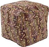 Surya Shoop Shoop Cube Pouf Ottoman in Olive