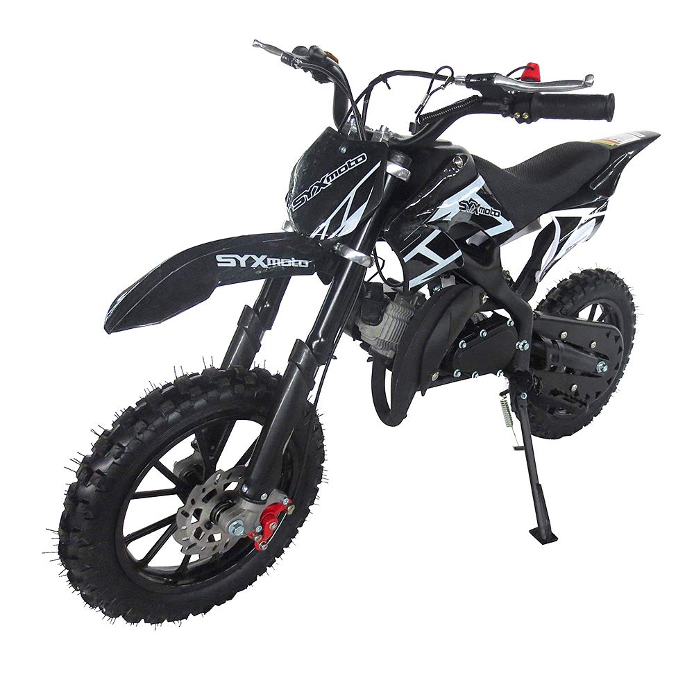 Fully Automatic Transmission Red SYX MOTO Kids Mini Dirt Bike Gas Power 2-Stroke 50cc Motorcycle Holeshot Off Road Motorcycle Holeshot Pit Bike