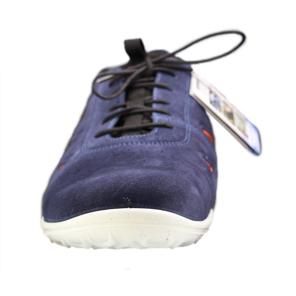 Jomos Herren Blau, Sneaker 422301 84 861 Blau, Herren Gr. 41 47, Nubukleder, Wechselfußbett, Weite H Weit Blau 767a7f