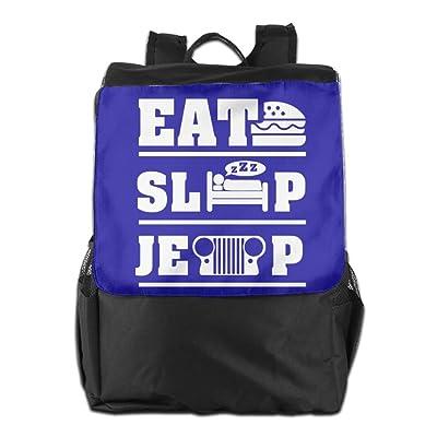 50%OFF Believe Ddspp Eat Sleep Jeep Outdoor Backpack Rucksack Gym Bags