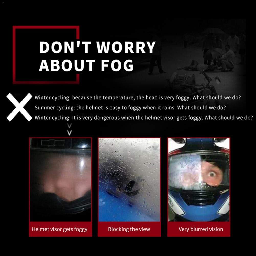 Freedomanoth Motorrad Helm Linse Anti Beschlag Folie Wasserdicht Universal Helm Anti Beschlag Visier Nebelvisier Brillen Sch/ützen Sie Sehverm/ögen Und Augenhaut