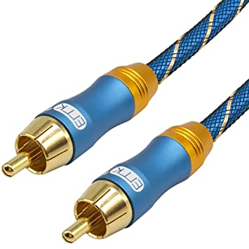 EMK S/PDIF Digital Audio Coaxial Cable - Dual Shielded - Gold-Plated -