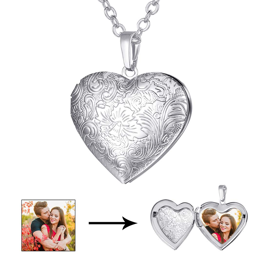 U7 Locket Necklace with Rolo Chain 22