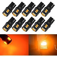 KaTur 10pcs T10 LED Bulb Super Bright 450 Lumens 168 194 2825 175 921 912 LED Light 5630 6SMD Interior Map Lights Trunk…