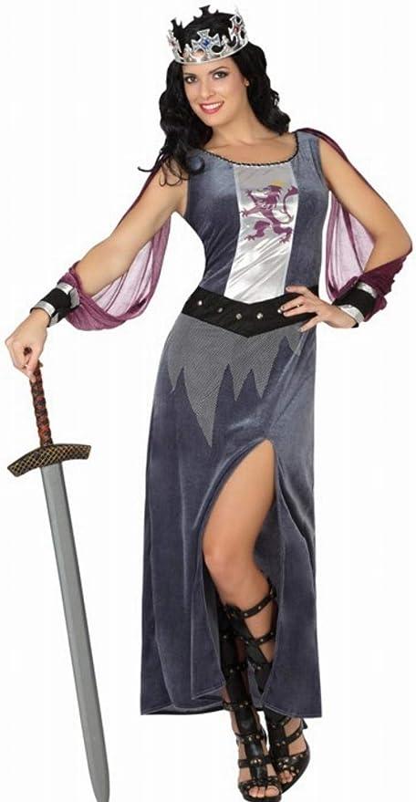 Atosa - Disfraz de Soldado Medieval para mujer, color: Gris/Lila ...