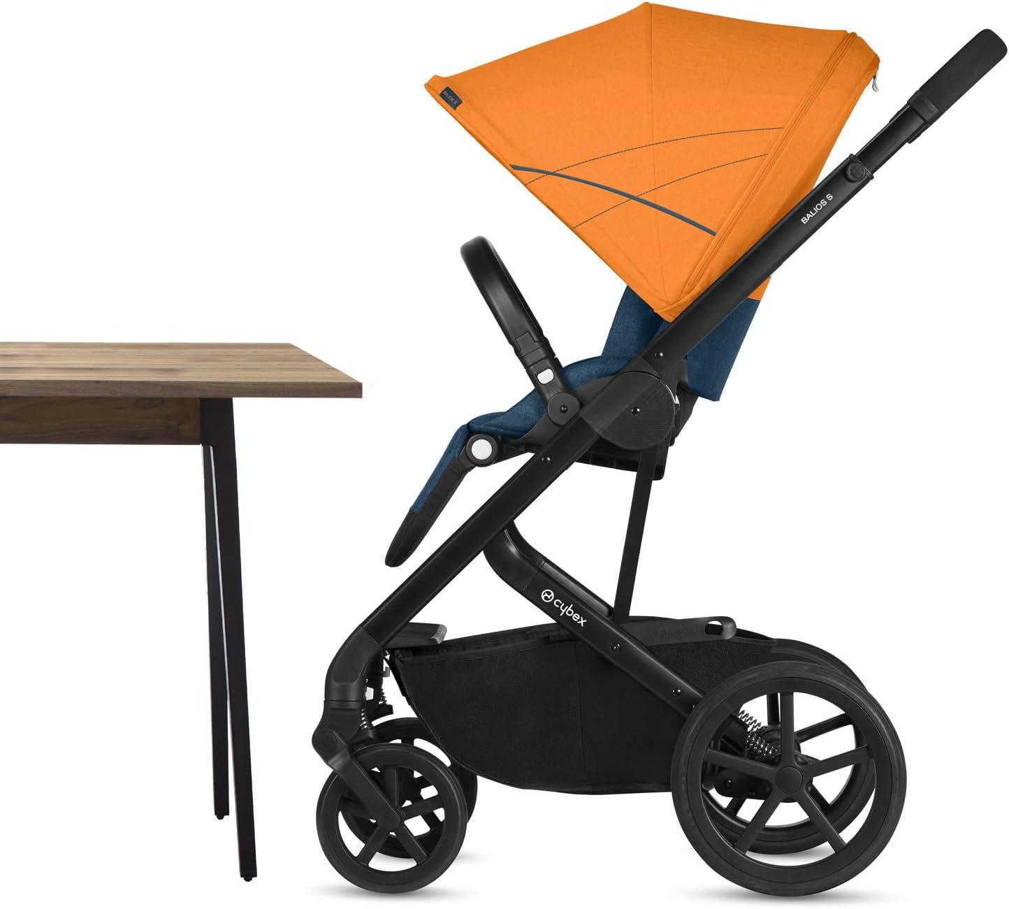 CYBEX Gold Cochecito Balios S con silla reversible y con Capazo S tama/ño S Respect desde el nacimiento hasta 17 kg y hasta los 4 a/ños aproximadamente