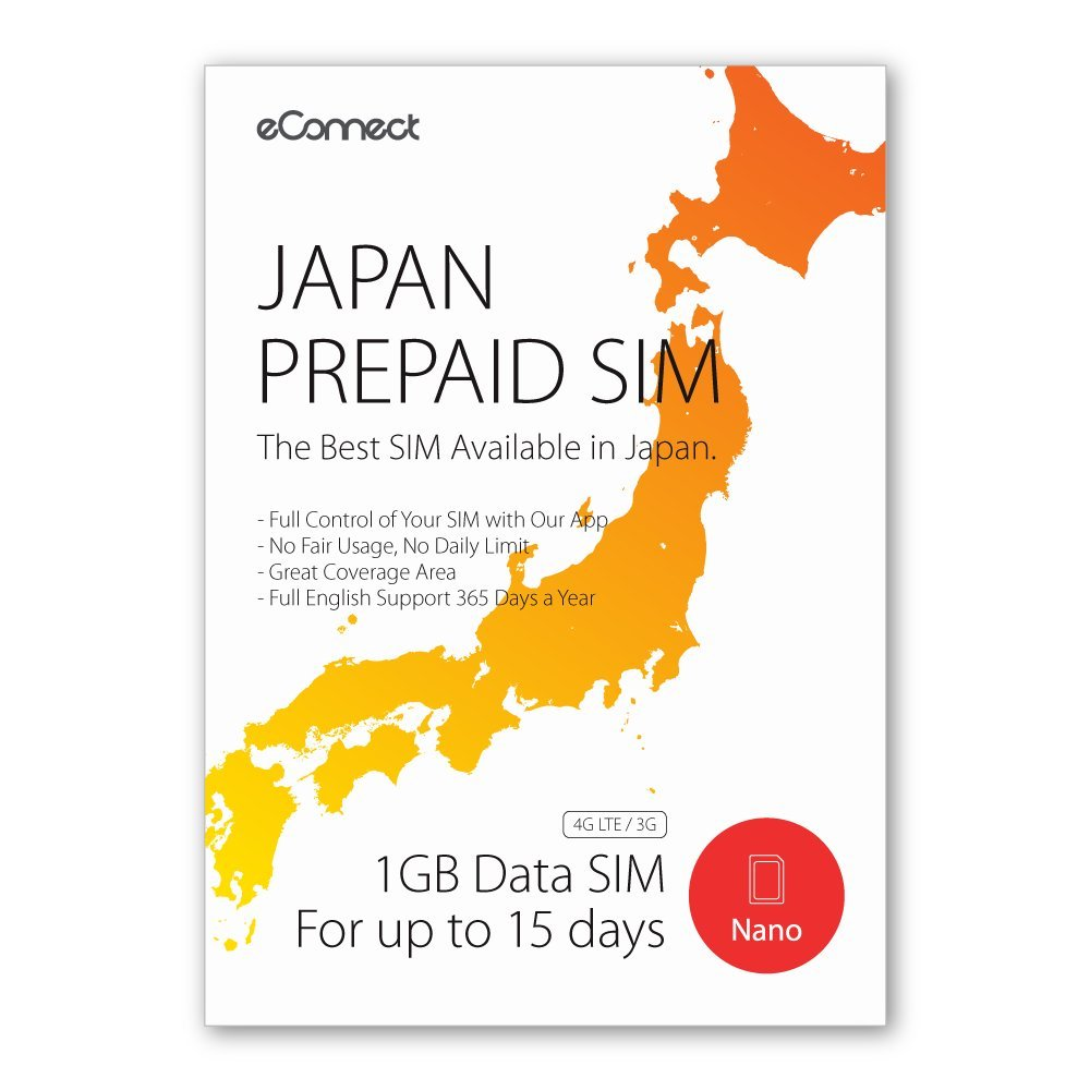 Japan Prepaid SIM (1GB Data for up to 15 days)