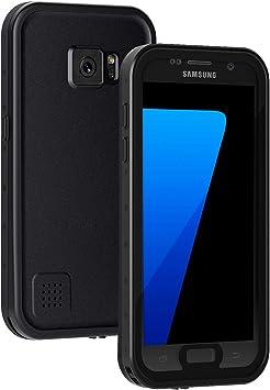 Lanhiem Funda Impermeable Samsung Galaxy S7,Carcasa Resistente Al Agua IP68 Certificado [Protección de 360 Grados],Carcasa para Galaxy S7 con Protector de Pantalla Incorporado,Negro: Amazon.es: Electrónica
