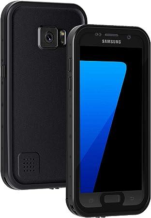 Lanhiem Coque Compatible avec Samsung Galaxy S7(5.1) Étanche, [IP68 Imperméable Antichoc] 360 Protection Integrale Antipoussière Anti-Neige ...
