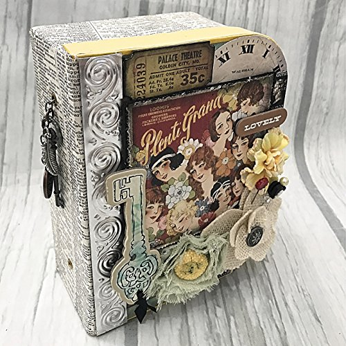 Chipboard Mini Album in Suitcase Holder Cover All in One Scrapbook album scrapbooking
