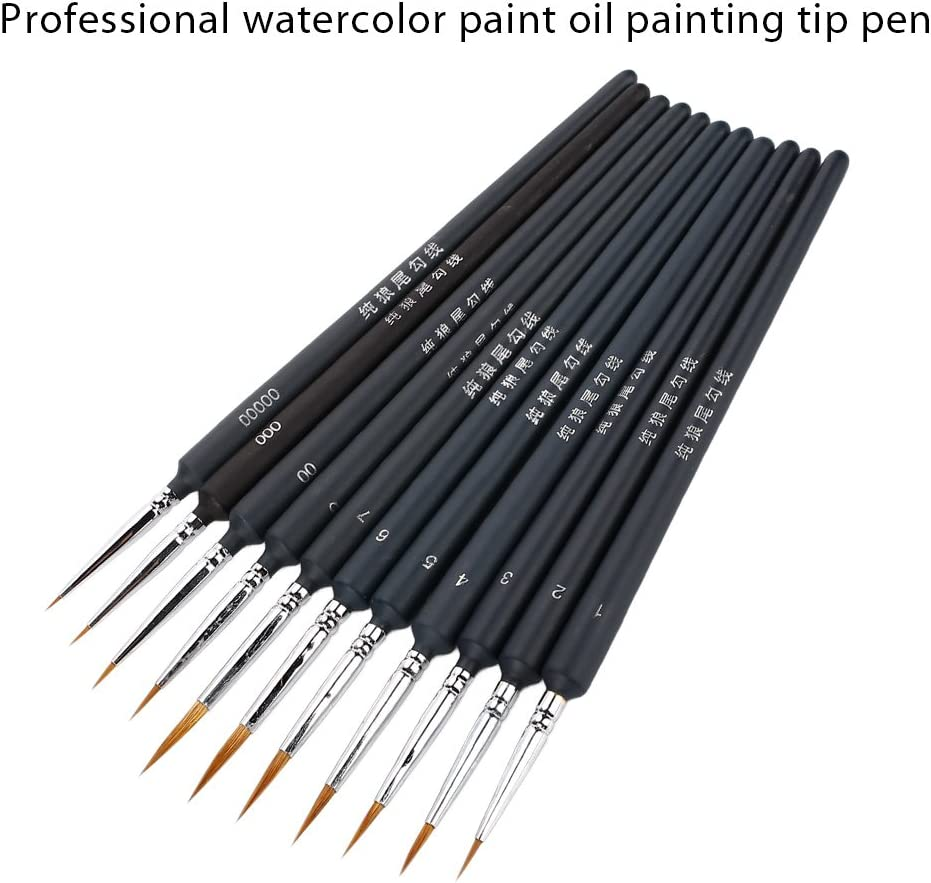 KIICN Tama/ño 19 Scriptliner Pinceles De Arte Pintura Al /Óleo Ni/ños Arte Lobos Pelos Profesional