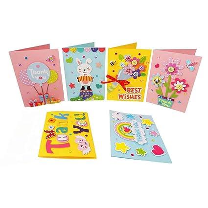 Amazon Com Card Making Kit Diy Handmade Greeting Card Kit For Kids