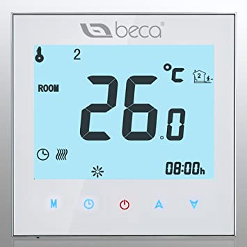 BECA Home Thermostat,Control LCD Touch Screen 3A Water Floor Heating Programmable MODBUS RTU Room