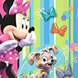 16 Count Minnie Mouse Bows Beverage Napkins, Multicolored