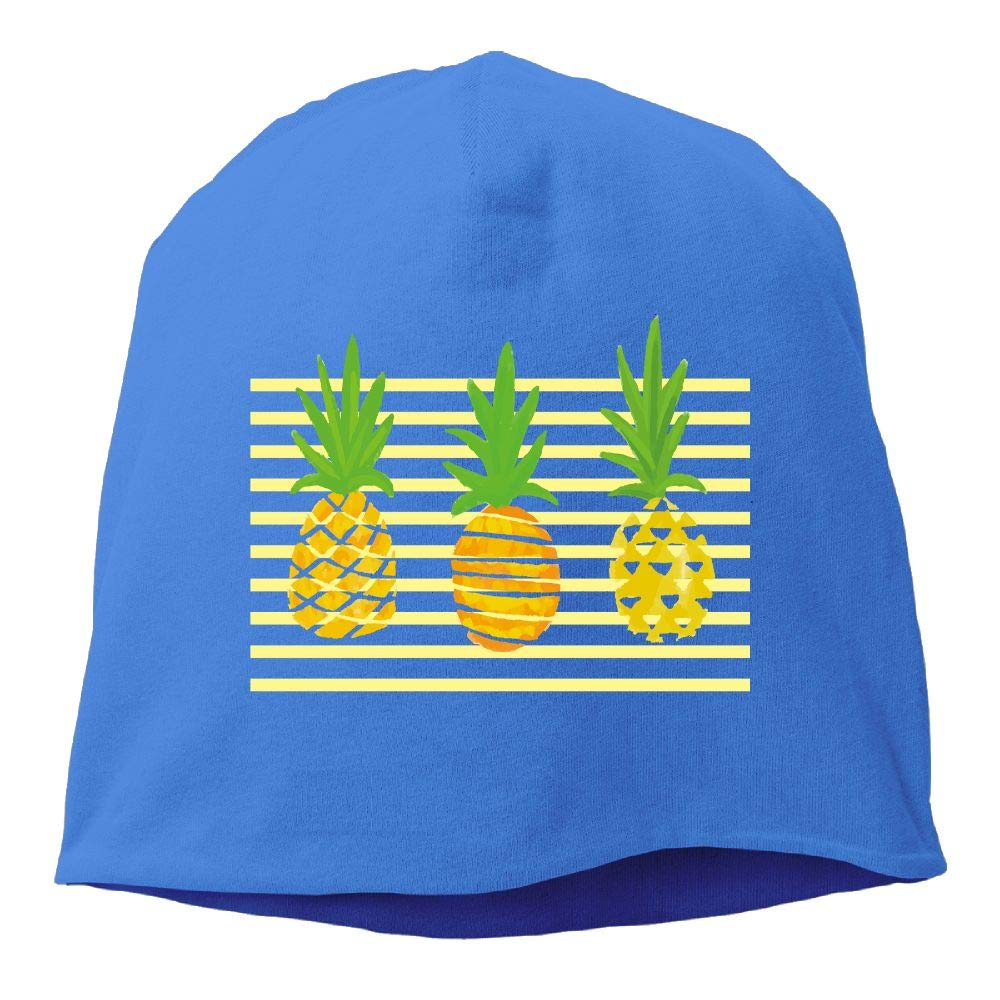 Headscarf Pineapple Elements Hip-Hop Knitted Hat for Mens Womens Fashion Beanie Cap