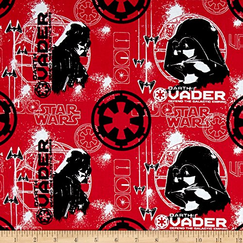 (Rogue One: A Star Wars Story Darth Vader Ruby Fabric By The Yard)