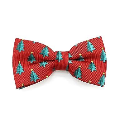 047640963504 Red Christmas Tree Bow Tie for Men - Xmas Festive Mens Bow Ties Ready Pre  Tied: Amazon.co.uk: Clothing