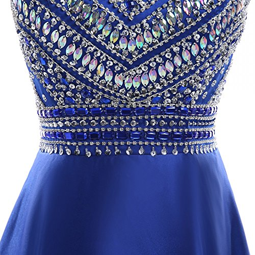 HEIMO Women's Sequins Evening Party Gowns Beading Formal Prom Dresses Long H187